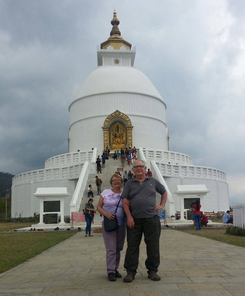 The World Peace Pagoda , Pokhara