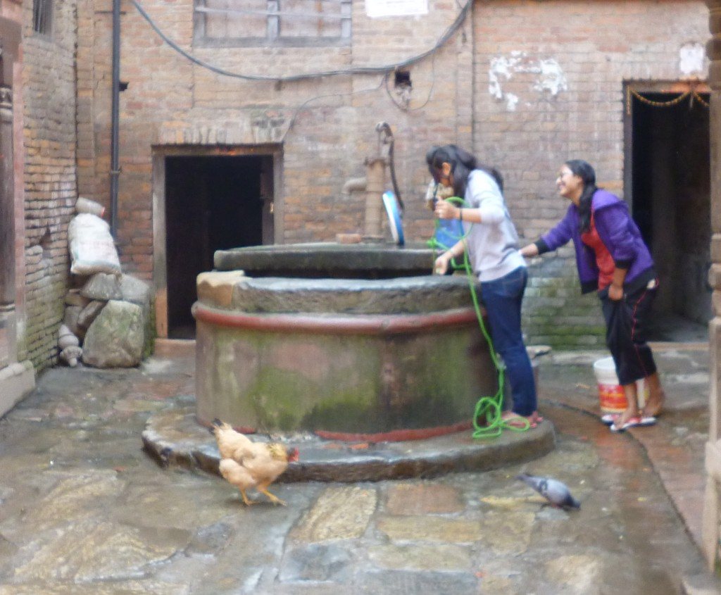 Pulling water from the well