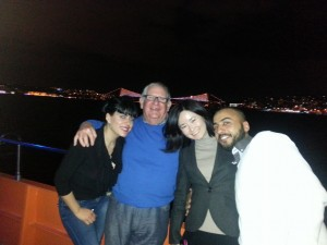 eclectic group on the Bosporos cruise