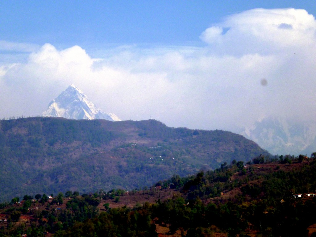 Annapurna from the breakfast terrace