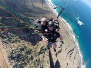 Big drop over Famara